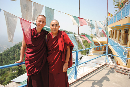 Kelsang Wangmo and a fellow nun in Dharamsala, May 2011
